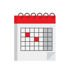 isometric calendar icon vector image