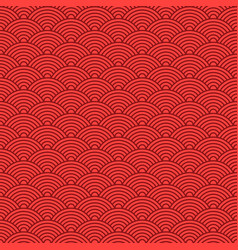 japanese red seamless wave pattern traditional vector image