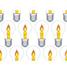 lamp and candle pattern vector image vector image