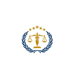 Law icon justice business logo vector