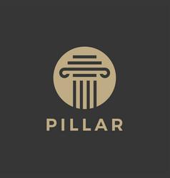 law pillar logo icon vector image
