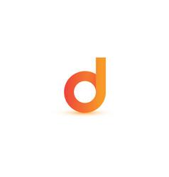 Letter d elegant logo and monogram vector