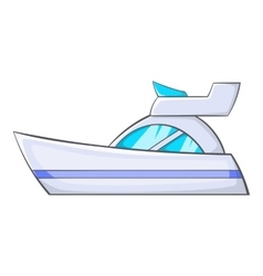 Little powerboat icon cartoon style vector