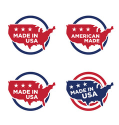 made in america label set 05 vector image