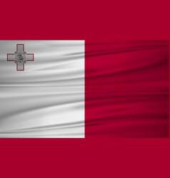 malta flag flag of malta blowig in the wind eps vector image