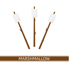 Marshmallow on stick vector