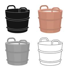 Milk bucket icon cartoon single bio eco organic vector