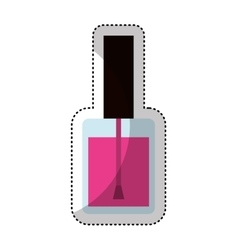 nails polish bottle icon vector image