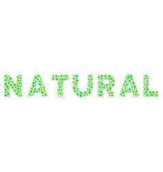 natural text mosaic of small circles vector image