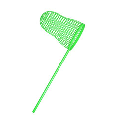Net in light green design vector