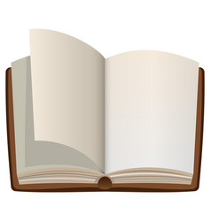 open cartoon book with empty blank pages vector image