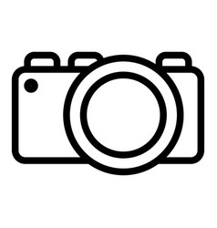 photo camera line icon photography vector image