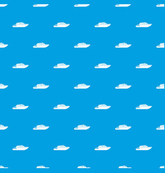 Planing powerboat pattern seamless blue vector