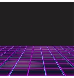 Retro Style Disco Design Neon Background vector image
