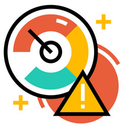 Risk indicator linecolor vector