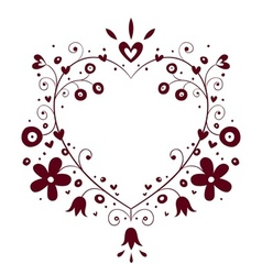 romantic heart frame vector image