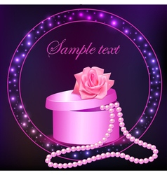 rose and box with pearl vector image