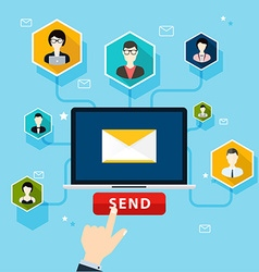 Running email campaign email advertising direct vector image