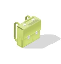 School bag isometric icon vector