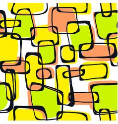 Seamless pop art 1960s ink drawn patternhand vector