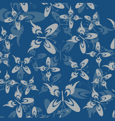 Set butterflies silhouettes isolated on white vector