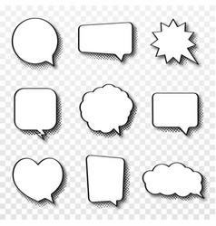 Set comic speech bubbles vintage empty comic vector