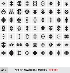 Set of Anatolian Turkish Motifs - Fetter vector
