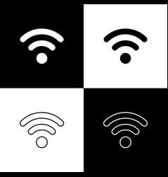 set wi-fi wireless internet network symbol icons vector image