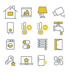 Smart House management Icons vector