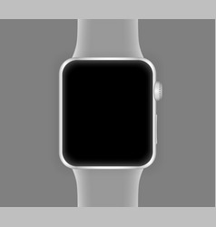 smart watch silver color vector image vector image