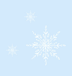 snowflake icon sign design red background vector image