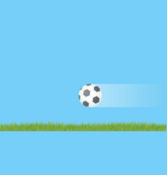 soccer ball flying in air vector image