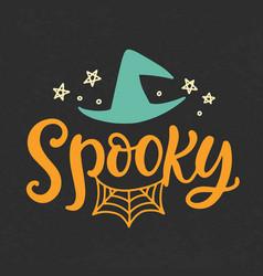Spooky halloween party poster vector