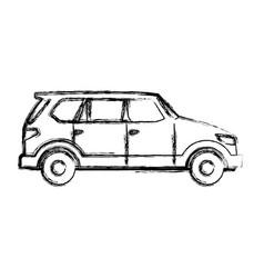 suv sport vehicle vector image