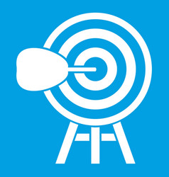 Target icon white vector