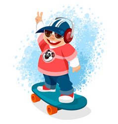 teenager on a skateboard vector image