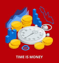 Time is money concept balancing time and money vector