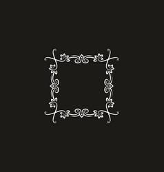 unique ornament square shape vector image