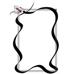 venomous snake vector image