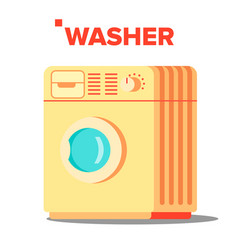 washer mashine classic autonomus home vector image