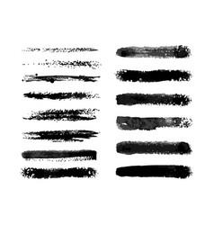Watercolor semi dry brushes set vector