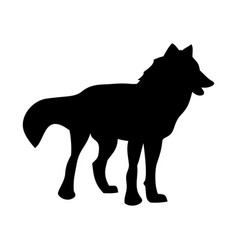 Wolf the leader of the pack vector