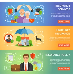 1608i124010Sm004c11insurance flat banners vector image