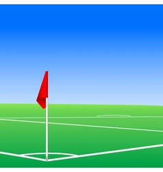 a football pitch corner flag vector image