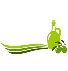 background with olive oil vector image vector image