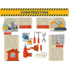 construction and building infographics vector image vector image