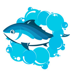 fish in water bubbles vector image vector image