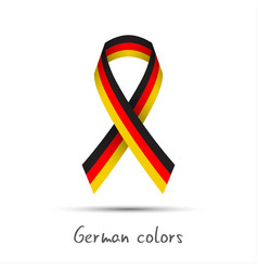 Modern colored ribbon with the german tricolor vector