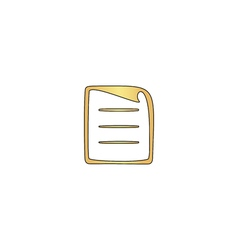 paper document computer symbol vector image vector image