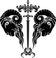 Ram sword vector image vector image